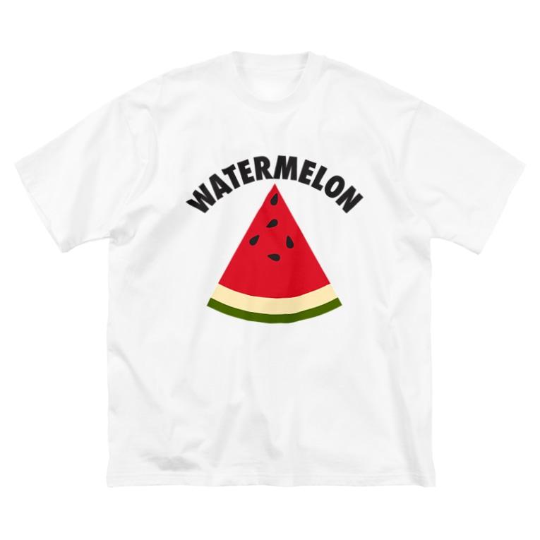 DRIPPEDのWATERMELON 扇形 Big silhouette T-shirts