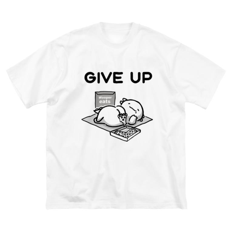 とんぼやーじゅのうーぱーいーつ~GIVE UP~ Big silhouette T-shirts