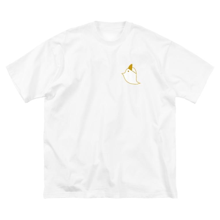 ❣️ぽこまる❣️のとりおばけの大きいTシャツ Big silhouette T-shirts