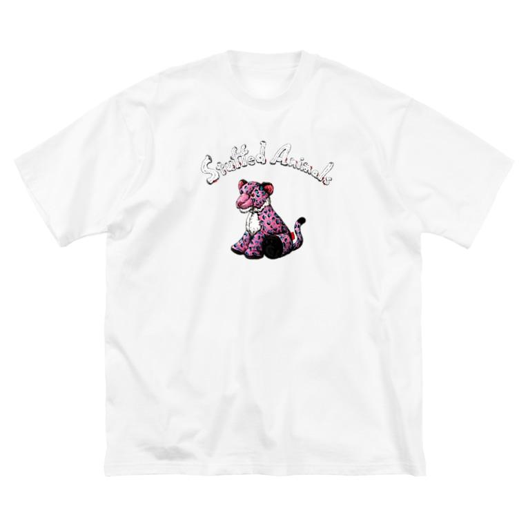 kei saitoのStuffed Animals_Leopard Big silhouette T-shirts