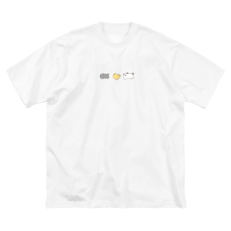 本調子の笑顔生命 Big silhouette T-shirts