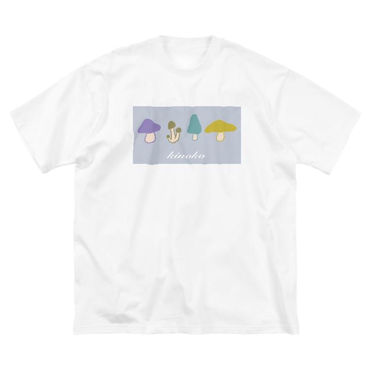 ばやのkinoko Big silhouette T-shirts