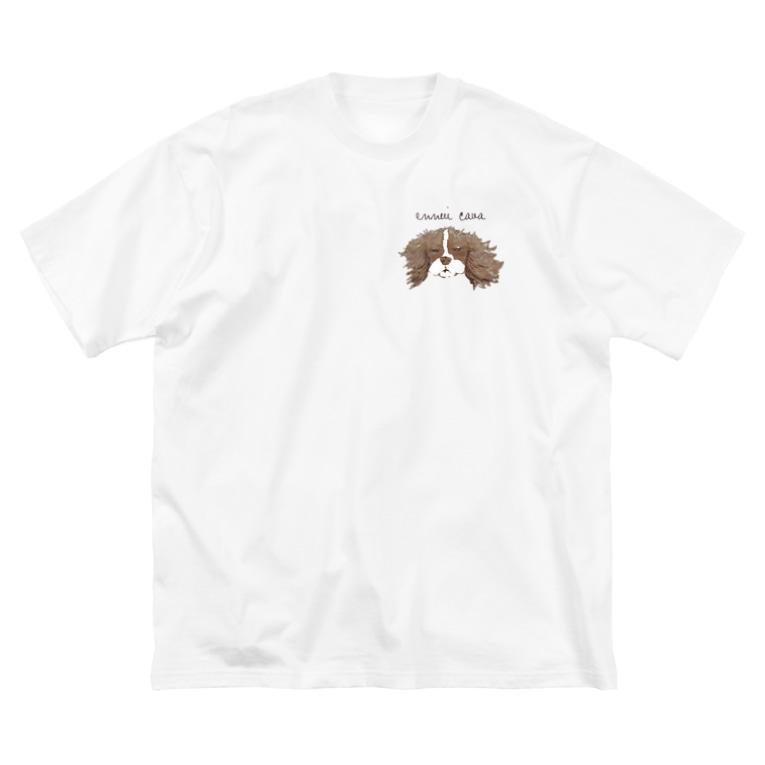 Kururunのアンニュイキャバリア Big silhouette T-shirts