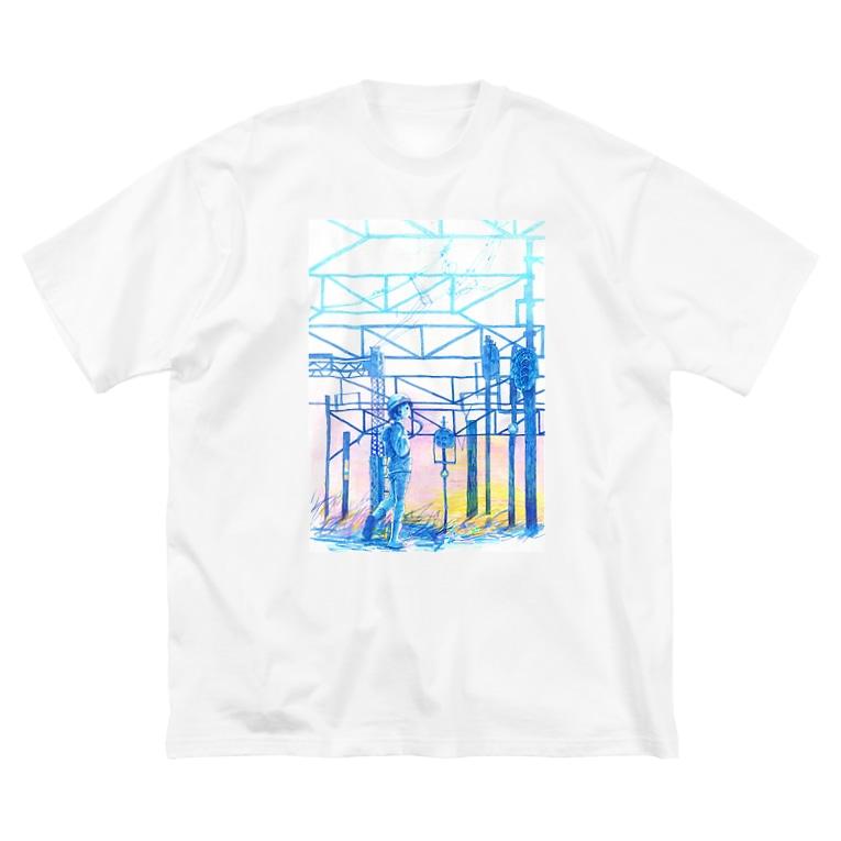 新商品PTオリジナルショップの矢ヶ崎第一閉そく信号機(碓氷線) Big silhouette T-shirts