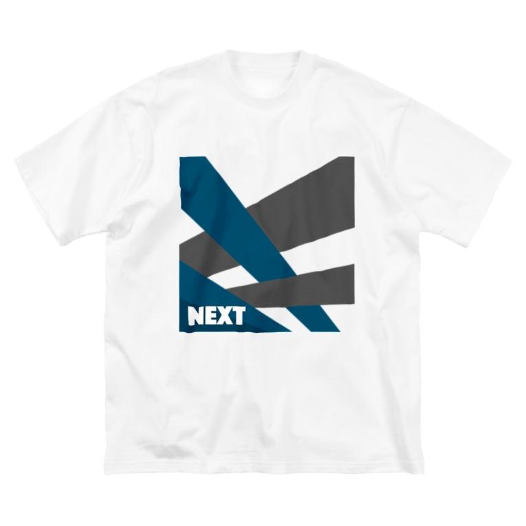 sHiKimaruのシンプル文字 NEXT ! Big silhouette T-shirts