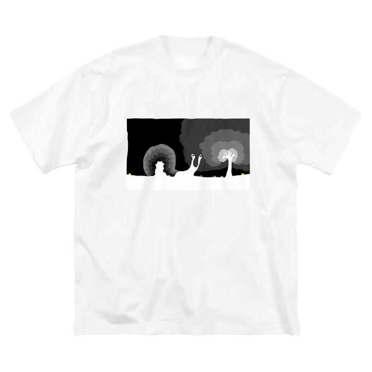 ARIGATOSANのカタツムリ Big silhouette T-shirts