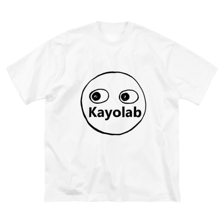 カヨラボ スズリショップのKayolabくん Big silhouette T-shirts