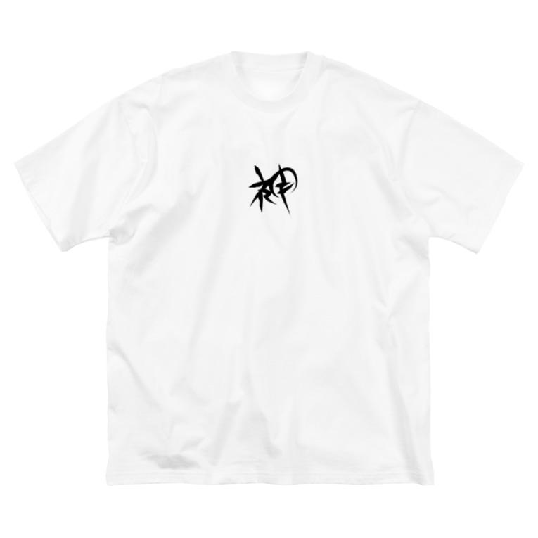 StrangeTwist -ストレンジツイスト-の神-GOD Big silhouette T-shirts