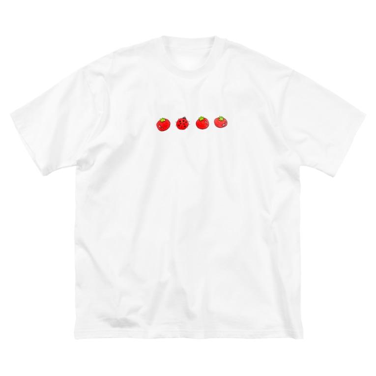 おみそ エンド もちもちのトマト エンド テントウ Big Silhouette T-Shirt