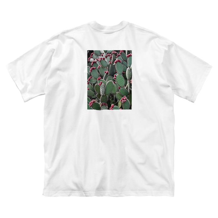 Tabbiesのウチワサボテン Big silhouette T-shirts