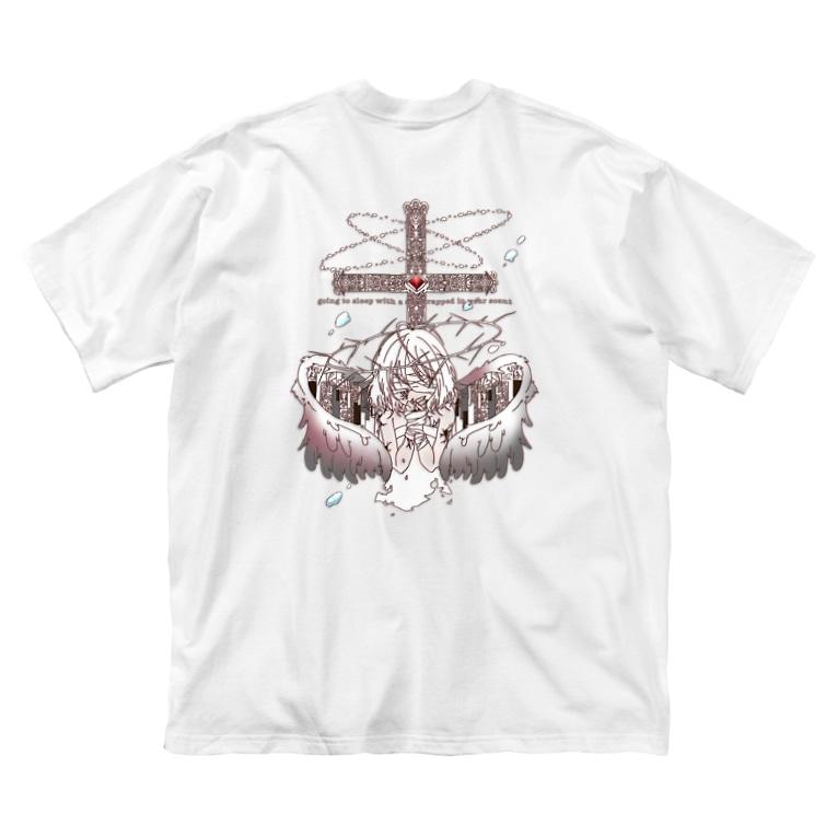 ⋆*⋆ஜ* ćӈїї⋆ฺ ஜ 。*のトラワレの天使 Big silhouette T-shirts