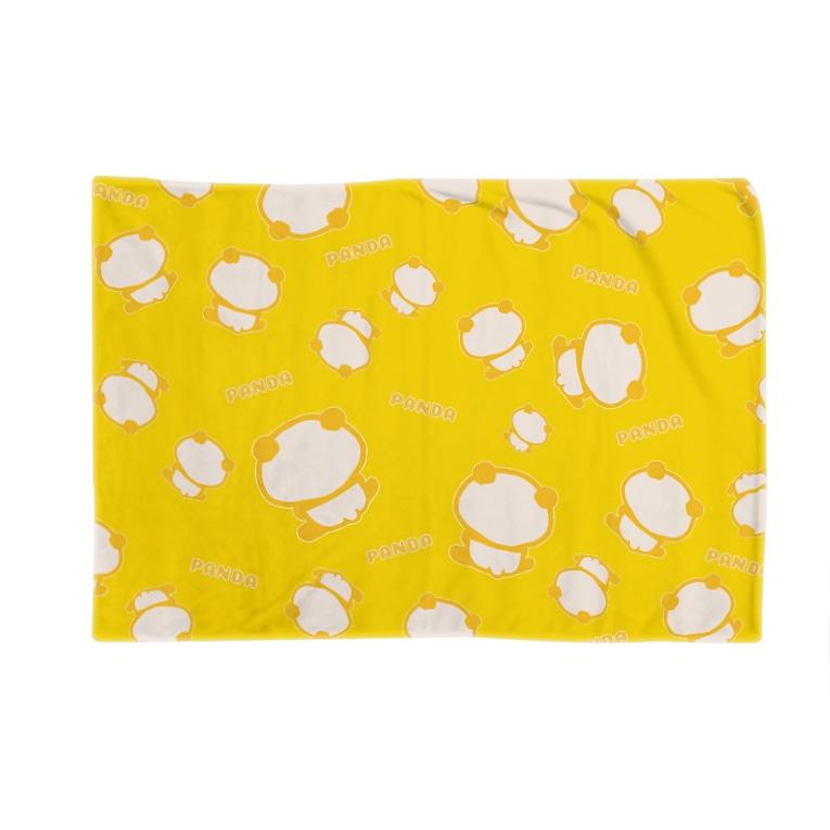 ぱんだ丸ショップのまったりパンダ(イエロー) Blanket