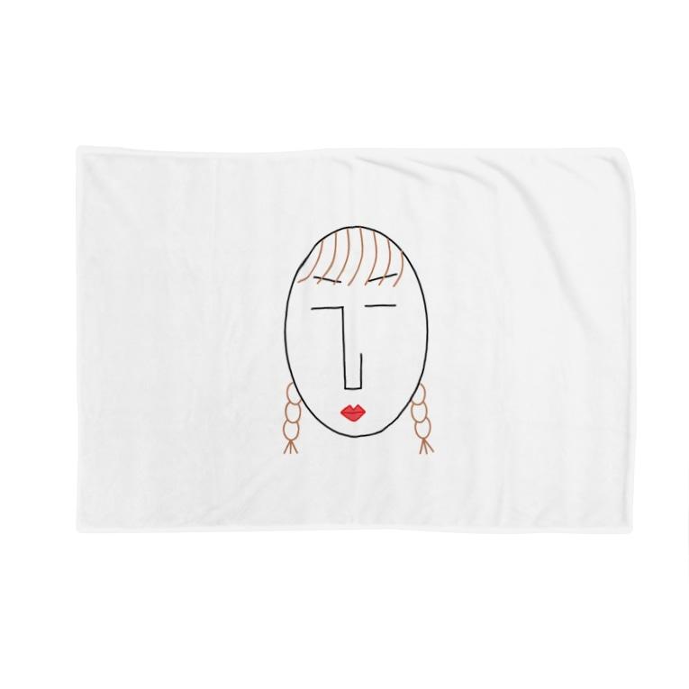 NATSUKO-SHOPのthe face様 (顔) Blankets