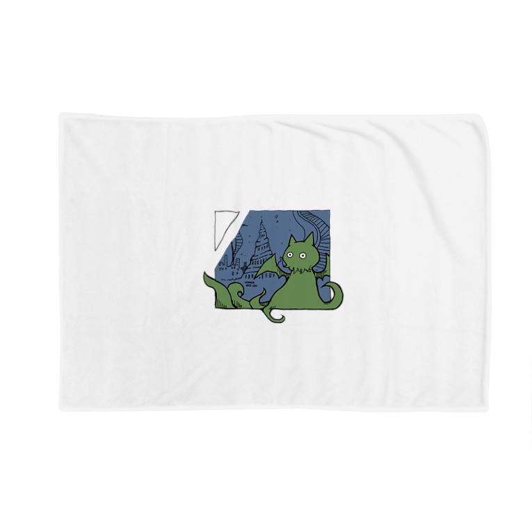 ちょぼろうSHOPの冒涜的な猫ルフ(色付き) Blankets