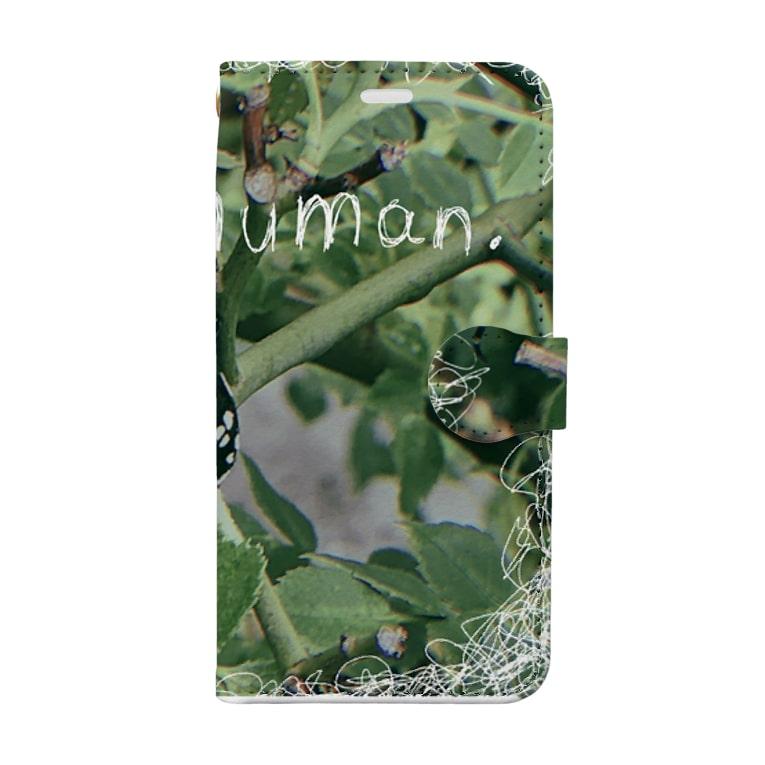 saya_otya0725の紙切れぬ人 Book-style smartphone case