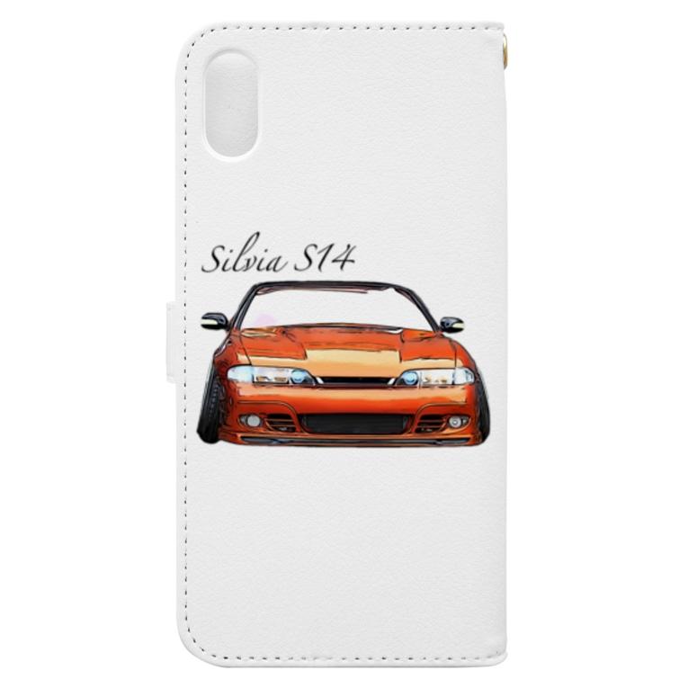 じゅりママのSilvia S14 前期 Book-style smartphone caseの裏面