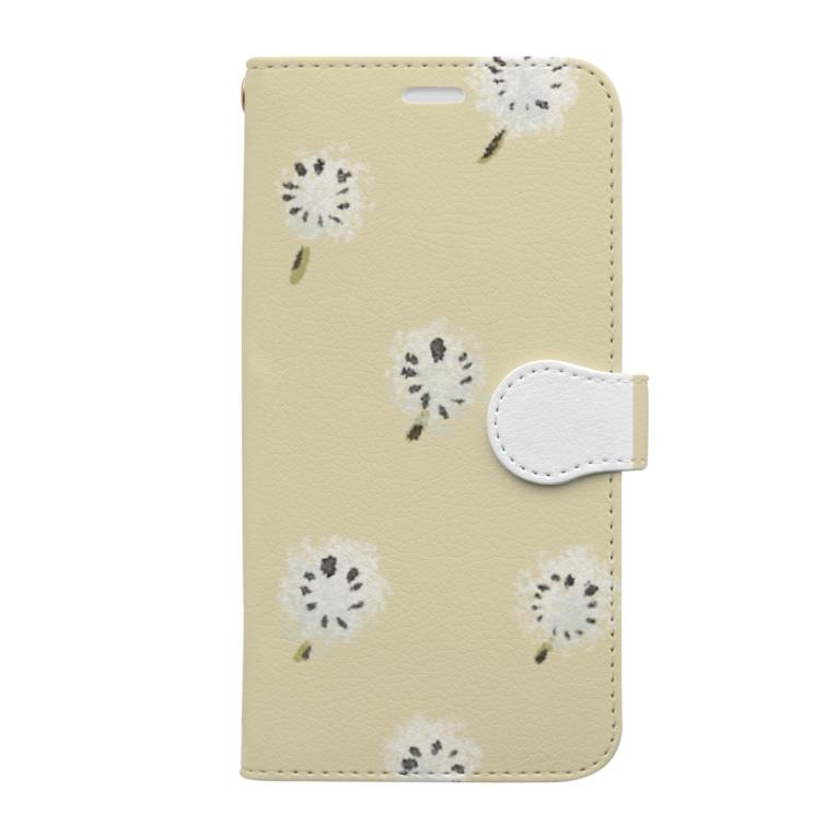 u-fuのふわふわ綿毛いっぱい Book-Style Smartphone Case