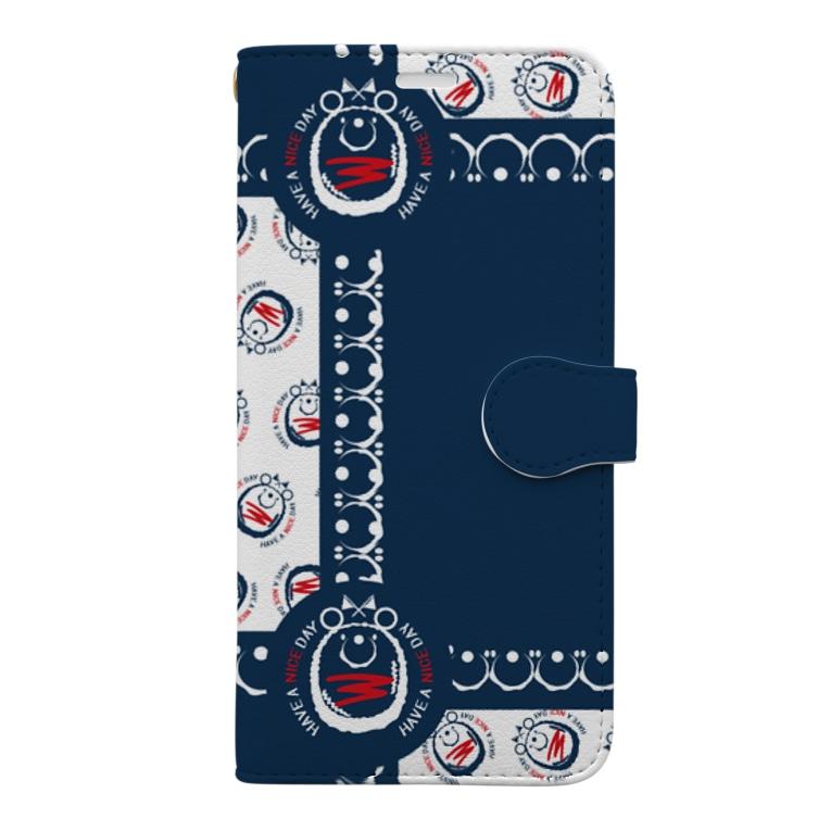 *suzuriDeMonyaa.tag*のCT80ナイスクンB*B Book-style smartphone case