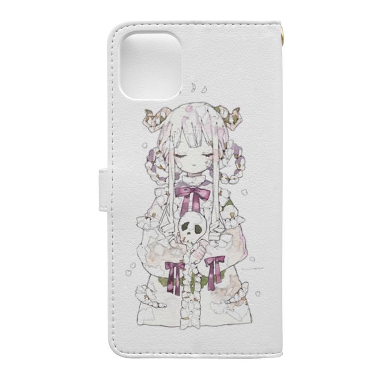 umiのリリィの願い Book-style smartphone caseの裏面