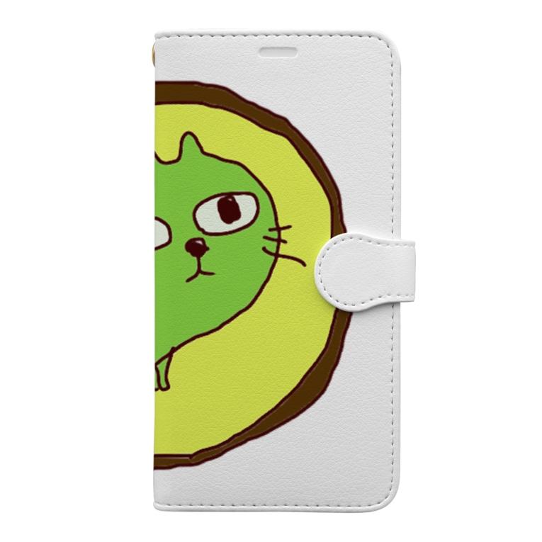Momonngamonnga zakka の真実を見極める顏 Book-style smartphone case