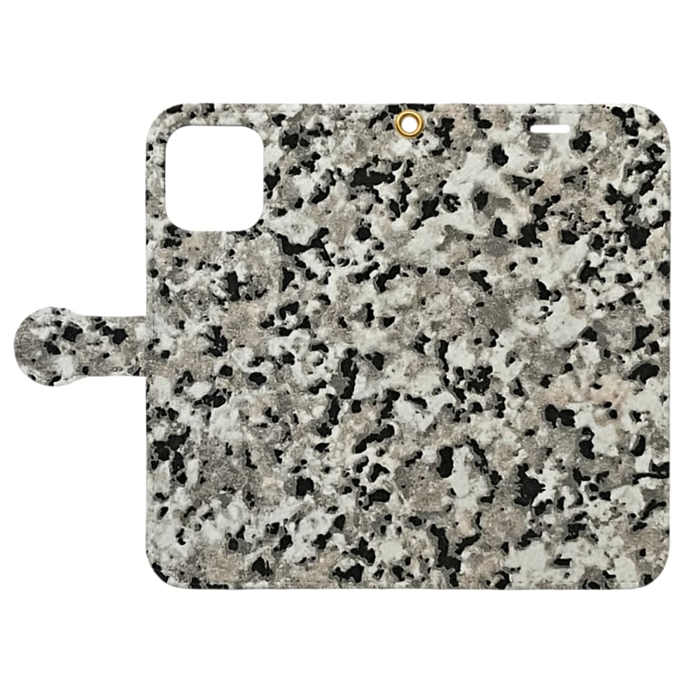 Urban Forest by Singh アーバン・フォレストの御影石模様 Stone Granite style Book-style smartphone caseを開いた場合(外側)