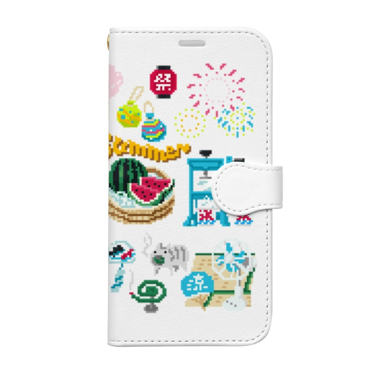 すとろべりーガムFactoryのドットSummer no.2 Book-style smartphone case