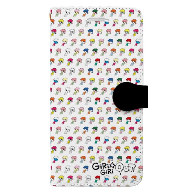 GiRiGiRi☆OUT Suzuri館のカラフルスマホケース Book-style smartphone case