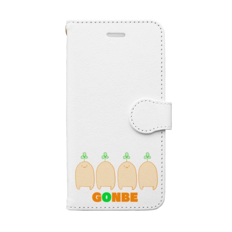 さけさくらのごんべぇ Book-style smartphone case