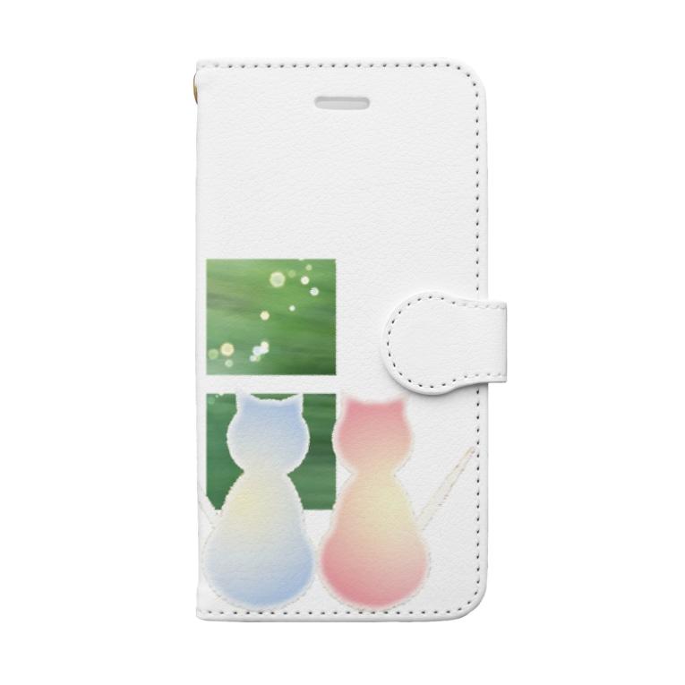 やまとねこのねこと蝶 Book-Style Smartphone Case