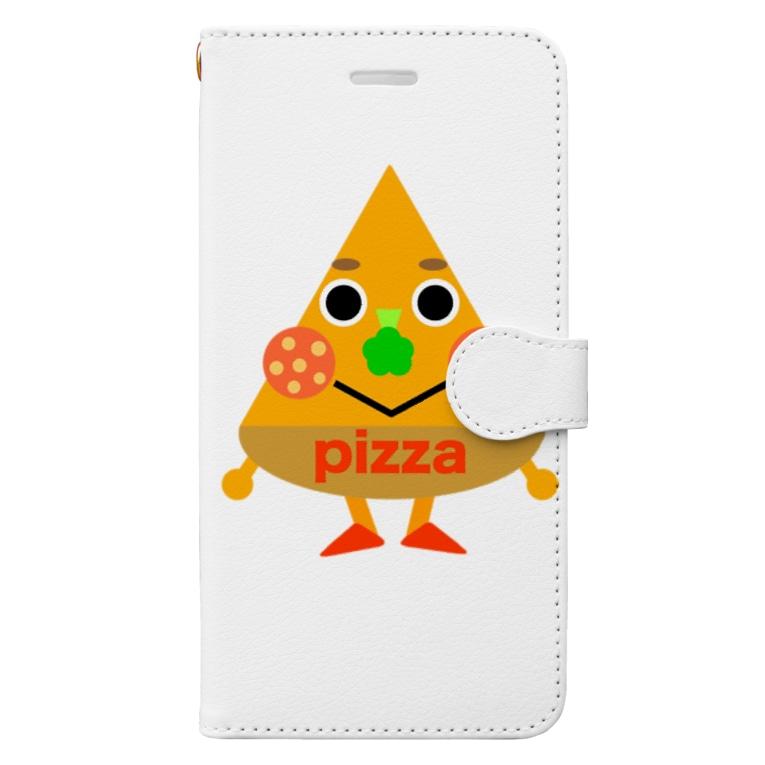 miaのピザくん Book-Style Smartphone Case