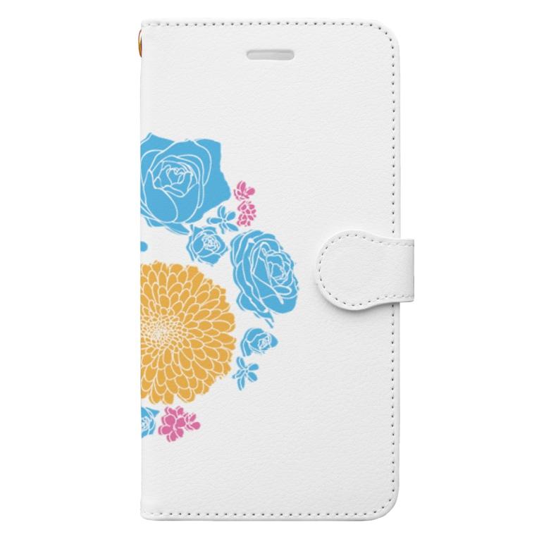 いのうえ(   ᷇࿀ ᷆  )のハナまりも Book-style smartphone case