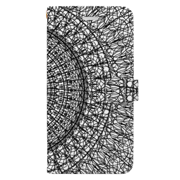 左の幾何学模様 series Book-style smartphone case