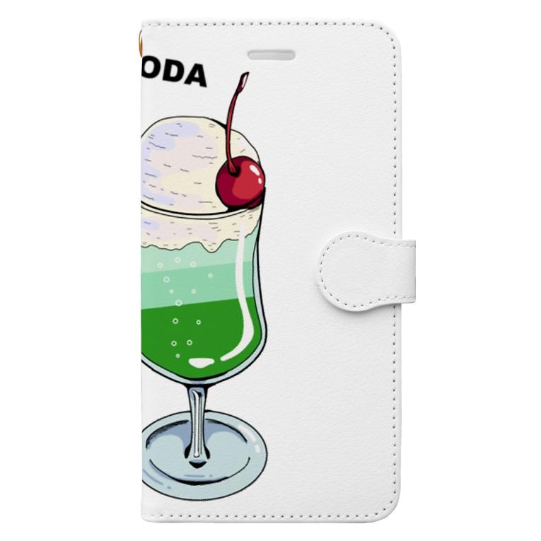 lamune&lamuneのツインソーダ Book-style smartphone case