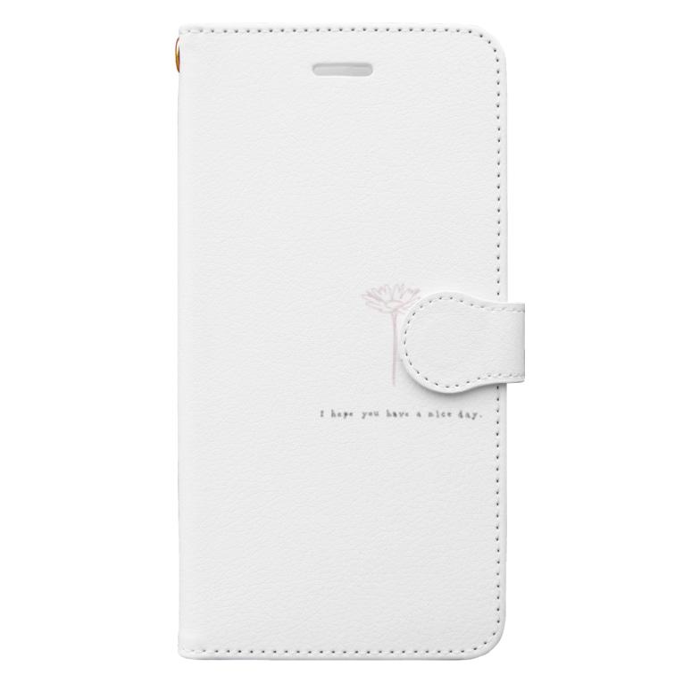 rilybiiのマーガレット*ピンク Book-style smartphone case