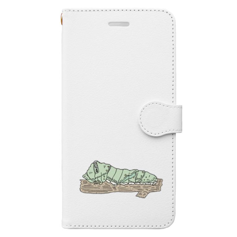 OGNdesignの虫 芋虫 いもむし NO.28 Book-style smartphone case