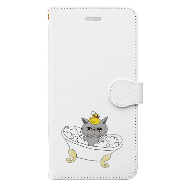 OGNdesignの猫 ねこ NO.33 Book-style smartphone case