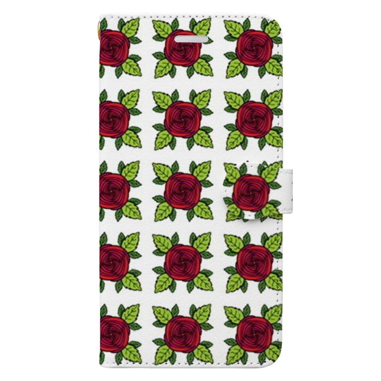SAKI🐭の薔薇〜バラ〜🌹 Book-style smartphone case