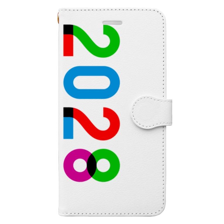 marikiroの2028_西暦 Book-style smartphone case