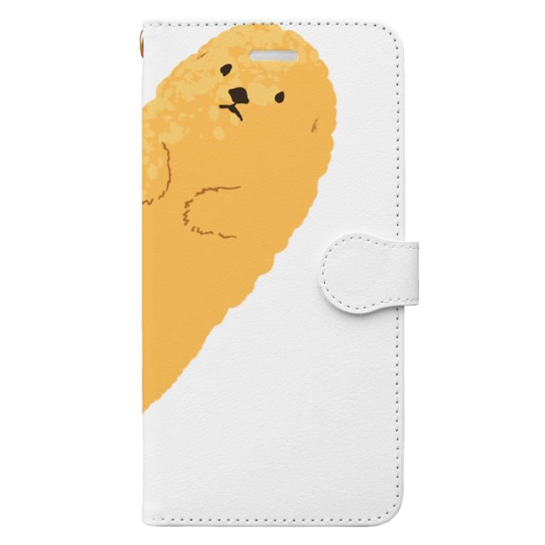poporipomeのてんぷらっこ Book-style smartphone case