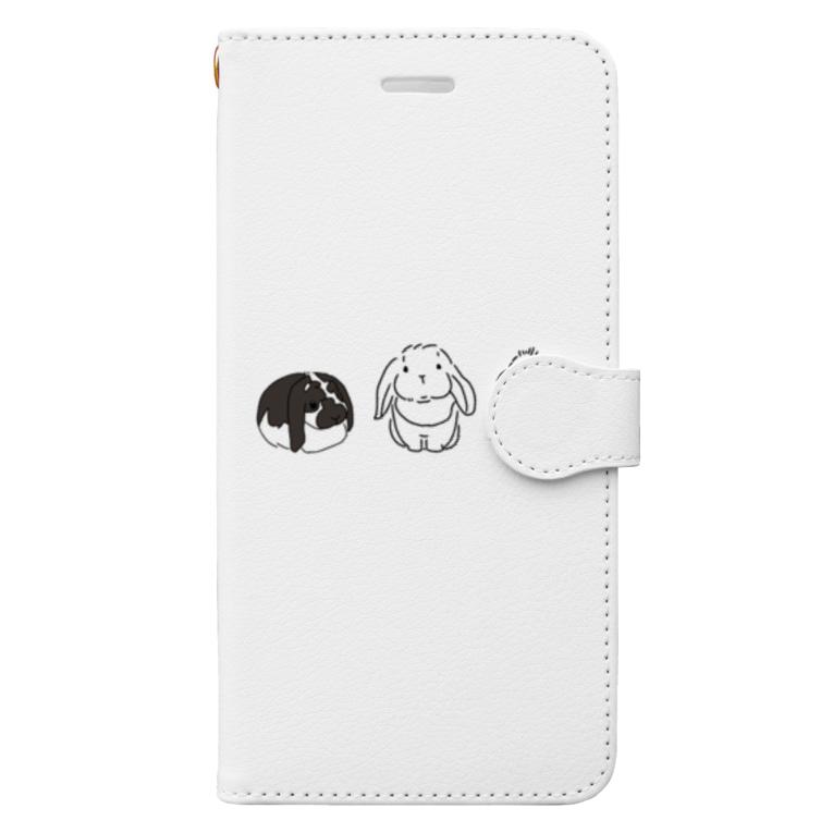 うちのこグッズまるまる🐾ワンコ・うさぎグッズの垂れ耳うさーずグッズ Book-style smartphone case