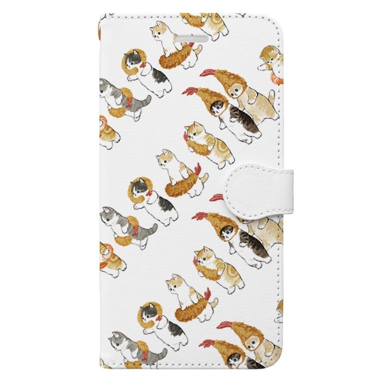 mofusandのえびの行列 Book-style smartphone case