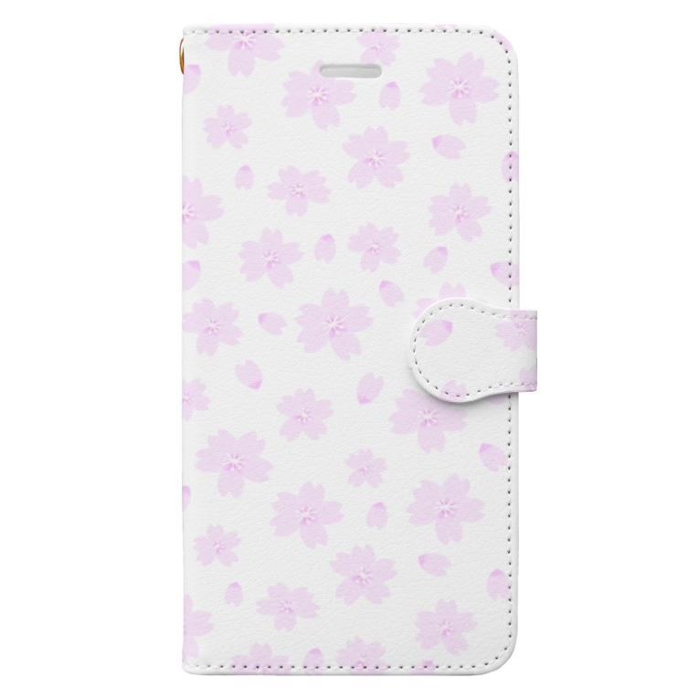 ぷけこ屋の桜 Book-style smartphone case