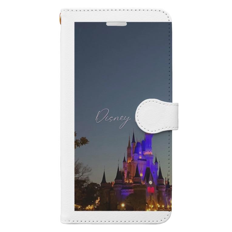 F_taba 個人撮影の個人撮影シンデレラ城 Book-style smartphone case