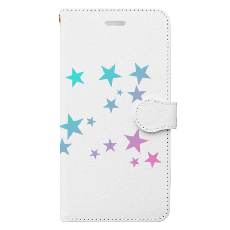 takacoのスター☆ Book-Style Smartphone Case