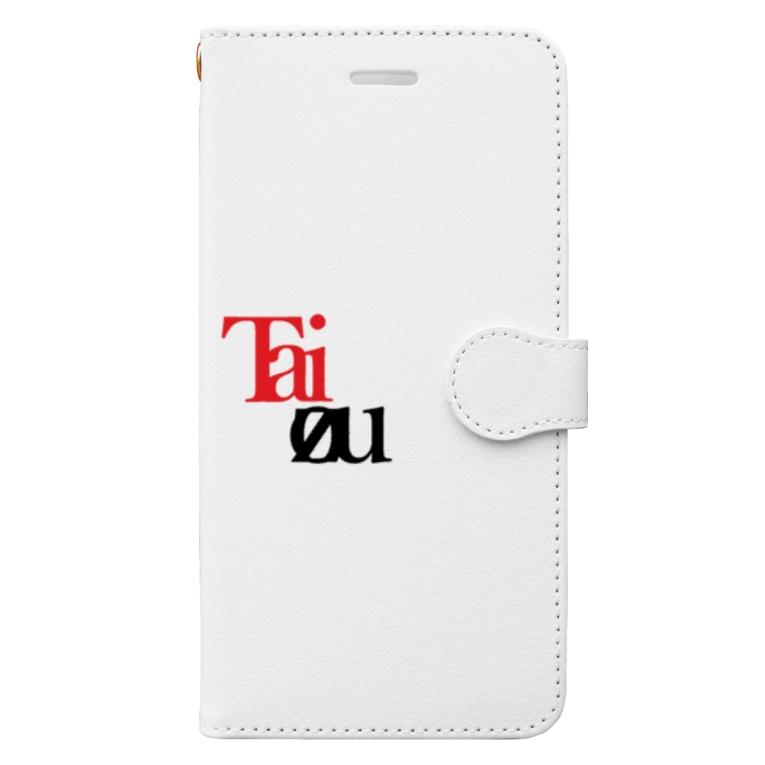 taizou 公式ですのわけわからんtaizouロゴ シリーズ1 Book-style smartphone case
