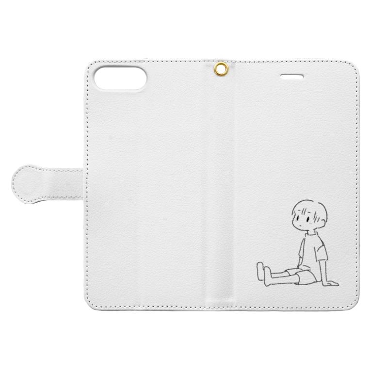 結町 いとのまちぼうけ(男の子) Book-style smartphone caseを開いた場合(外側)