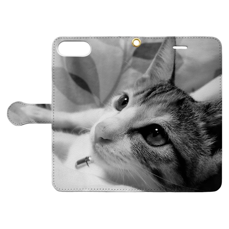 ほぼひめ。の三毛猫のひめ 1 Book-style smartphone caseを開いた場合(外側)