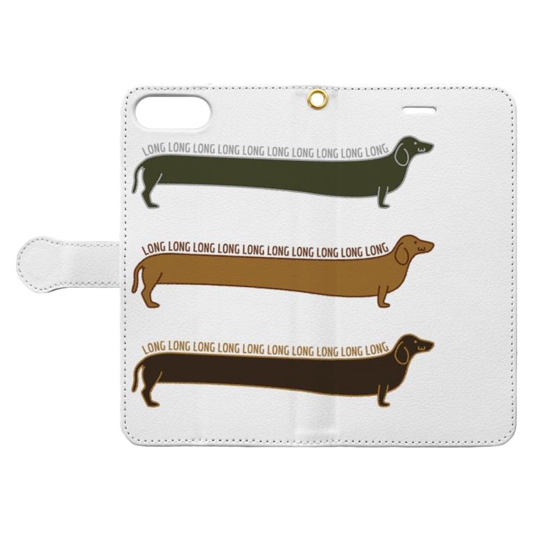 riuichi14のDaaaachshund Book-style smartphone caseを開いた場合(外側)