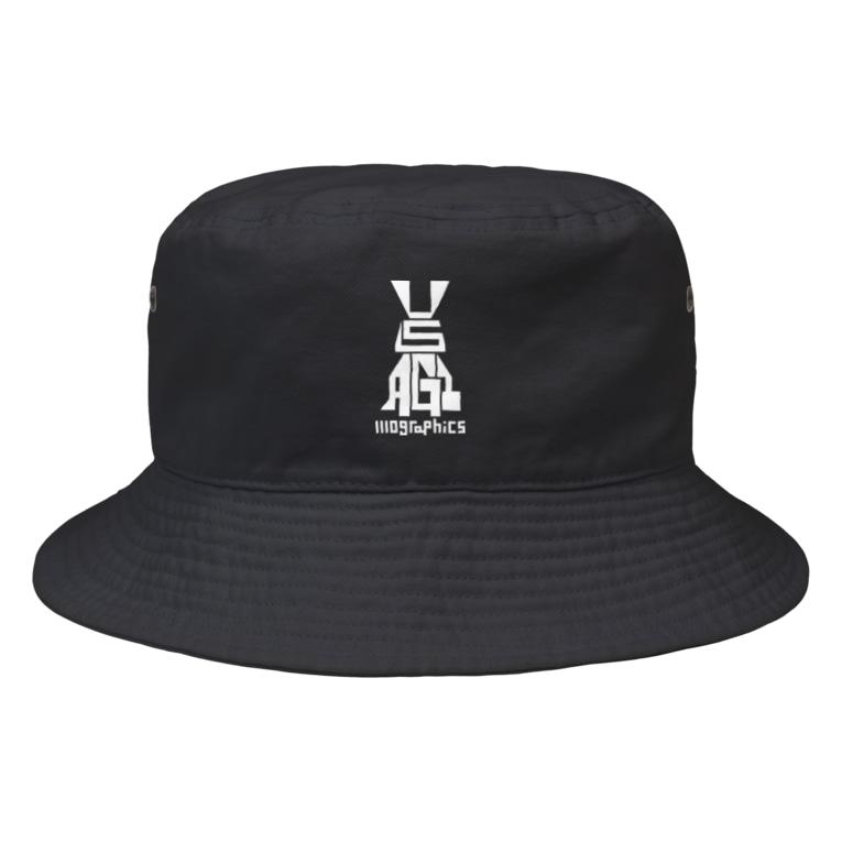 1110graphicsのUSAGI / 兎 Bucket Hat