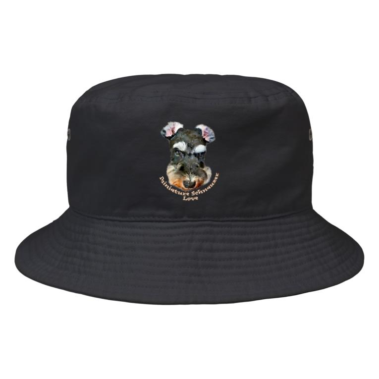 OtoHaru_shopのMiniature Schnauzer Love Bucket Hat